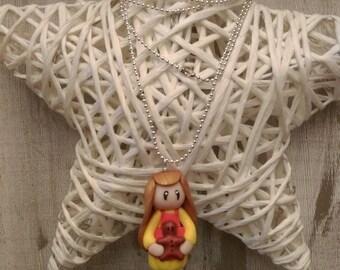 Miniature fimo necklace