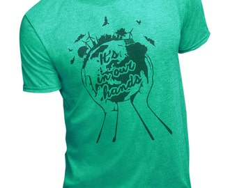 In Our Hands Tshirt By Nik Smith for Men and Women