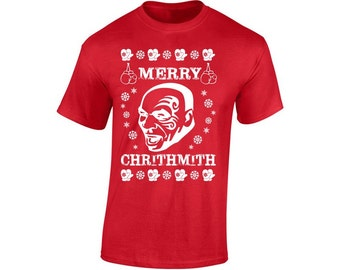 Mike Tyson Christmas shirt Merry ChrithMith Christmas Tshirt Shirt punch out