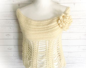 Bridal capelet,Off white capelet,bridesmaid capelet,Shrug,Bolero,Prom,crochet capelet,wedding wear,bridesmaid,wedding cape,beach wedding,