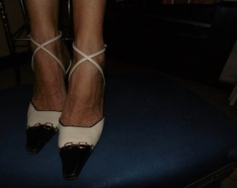 CASADEI VINTAGE shoes / Pumps / strips to cross on the ankles / casadei shoes / Pumps / ankle straps.
