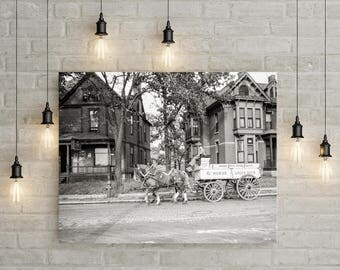 Retirement Gift, Old Minneapolis MN Beer Wagon Photo, 1939, Minneapolis Minnesota, Minneapolis Art, Bar Decor, Black White Photography