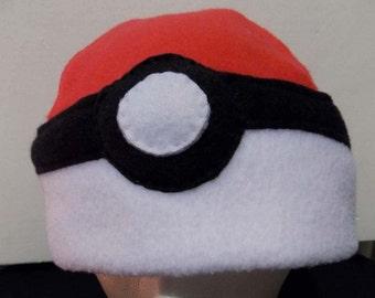 Pokeball Fleece Hat