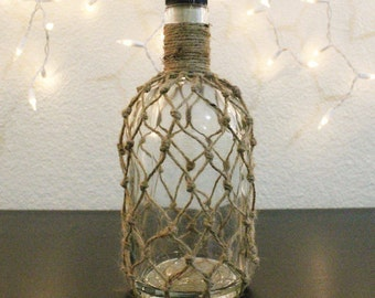 Twine wrapped bottle