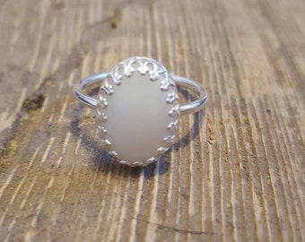 Large oval breastmilk ring