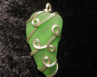 Handmade Natural Seaglass Pendant