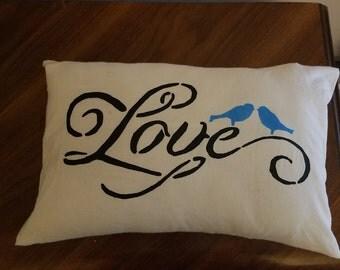 Love with Bird Throw Pillow/Pillow Case