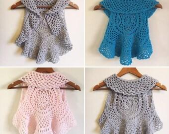 Age 2 years MADE TO ORDER Kids Crochet Mandala Sleeveless Cardigan,  Kids crochet circular vest, Mandala cardigan, Mandala vest