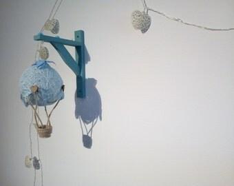 Custom Wall Hanging Hot Air Balloon Décor | Baby Nursery | Crib Mobile | Baby Girl Nursery Décor | Baby Boy Nursery Décor | Baby Gift