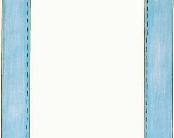 Blue Stitching Cardstock Frame My Mind's Eye Frame Up's Scrapbook  Embellishments Cardmaking Crafts