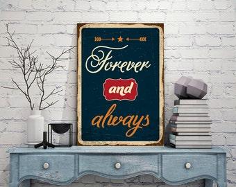 FOREVER Signs, Forever Vintage style, Forever Decor, Forever, Metal custom sign, Custom metal sign, Metal art, Street sign metal
