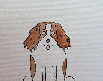 Custom dog cat pet portrait caricature