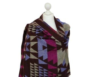 Coffee Brown Blanket Shawl Wrap, Tribal Shawl, Spring Summer Scarf, Winter Shawls, Women Shawl, Oversized Shawl, Gift For Her, Shawls, Wraps