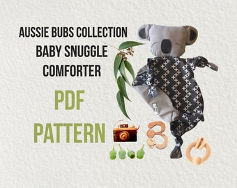 PDF PATTERN Baby comforter/security toy
