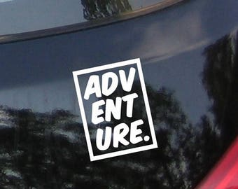 SALE Adventure - Laptop, Travel Expedition Car Sticker Decal with Mountains, Sticker,Bumper,Vinyl Decal,Adventure, Car Window Decal, Laptop