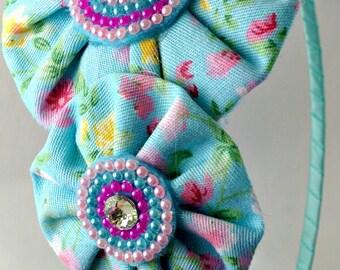 Handmade Fabric Flower Headband