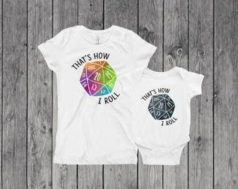 That's How I Roll D20 onesie  & Youth Graphic Tee | Baby Onsie | Dice Onesie | MTG | DnD | Gamer | Nerd Baby Onesie | Youth Shirt