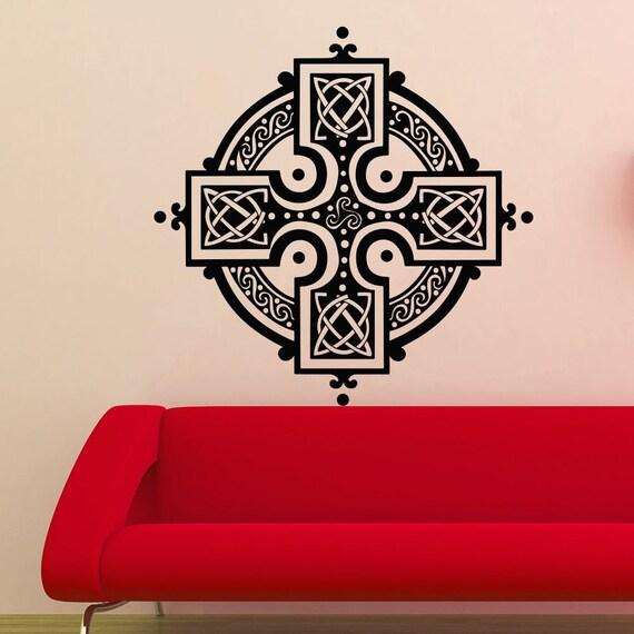 Vinyl Wall Decal - Mandala Wall Decals Yoga Symbol Decal Bedroom Vinyl Boho Sticker Decor Art