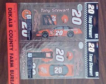 Nascar #20 Tony Stewart (2 pkg) stickers, EKSuccess