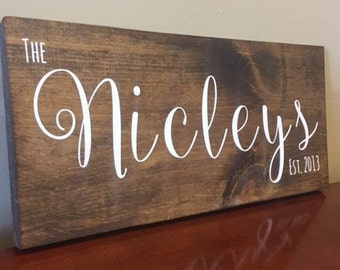 Customized Wooded Namesake Sign