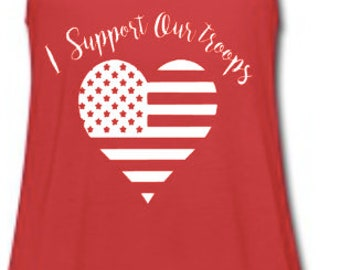 I support Our Troops racerback tank
