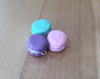 cute tiny clay macarons