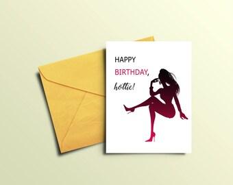 sexy birthday gift  etsy, Birthday card