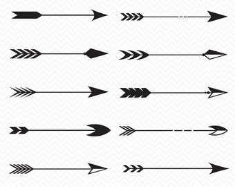 Tribal Arrow SVG- Arrow Collection Download- Cameo or Cricut- Arrow svg, eps, png image- Digital Design- Silhouette- SVG files for cricut