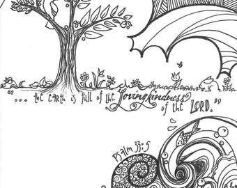 Lovingkindness Colouring Page