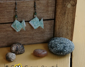 Origami (fish) - P016 earrings