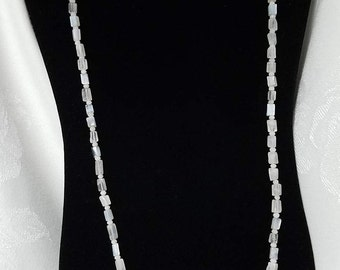 Long Moonstone Bead Necklace