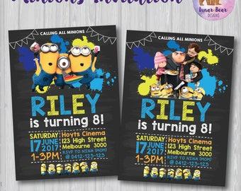 Minions Invitation, Despicable Me 3 Invitation, Minions Birthday Party, Minions Party, Minions Invite, Despicable Me Party Minions Printable