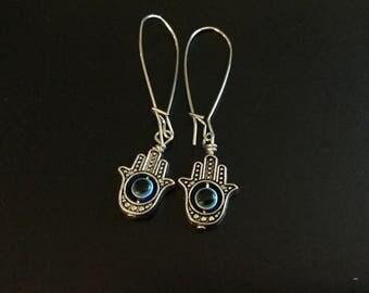 Hamsa amulet earring