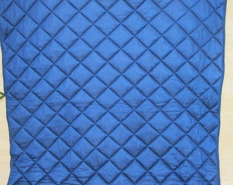 Tricot Quilt, Navy Blue Quilt, Grid Design Quilt, Crib Quilt, Baby Quilt, Toddler Quilt, Nursery Bedding