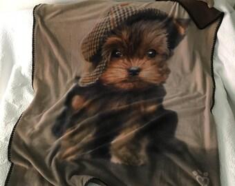 Yorkie Blanket Etsy