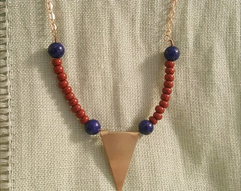 Rocky Mountains Necklace // Beaded Geometric Necklace