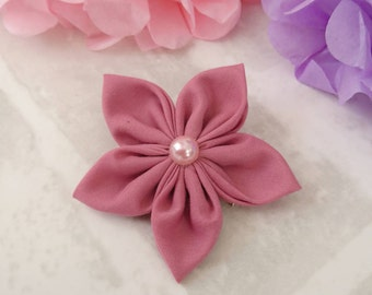 Dusky Pink Flower Hair Accessory - flower hair clip - gifts for her - hair bobble - hair accessory - birthday gift - girls hair accessories