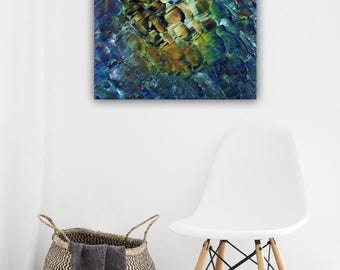 Wonderful abstract acrylic painting on canvas 40 x 40 cm (abstract painting on canvas)