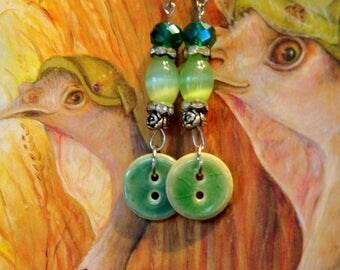 Victorian Button Earrings II