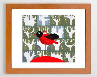 Toy bird- #Bird #DecorHome#Art#room#Illustration#Art#print#Bird#Birds #Europeanstreetteam
