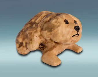 Wooden dog figurine – Small dog figure – Wood carved dog – Dog carving – Best friend gift – Wooden dog statues – Wooden dog souvenir