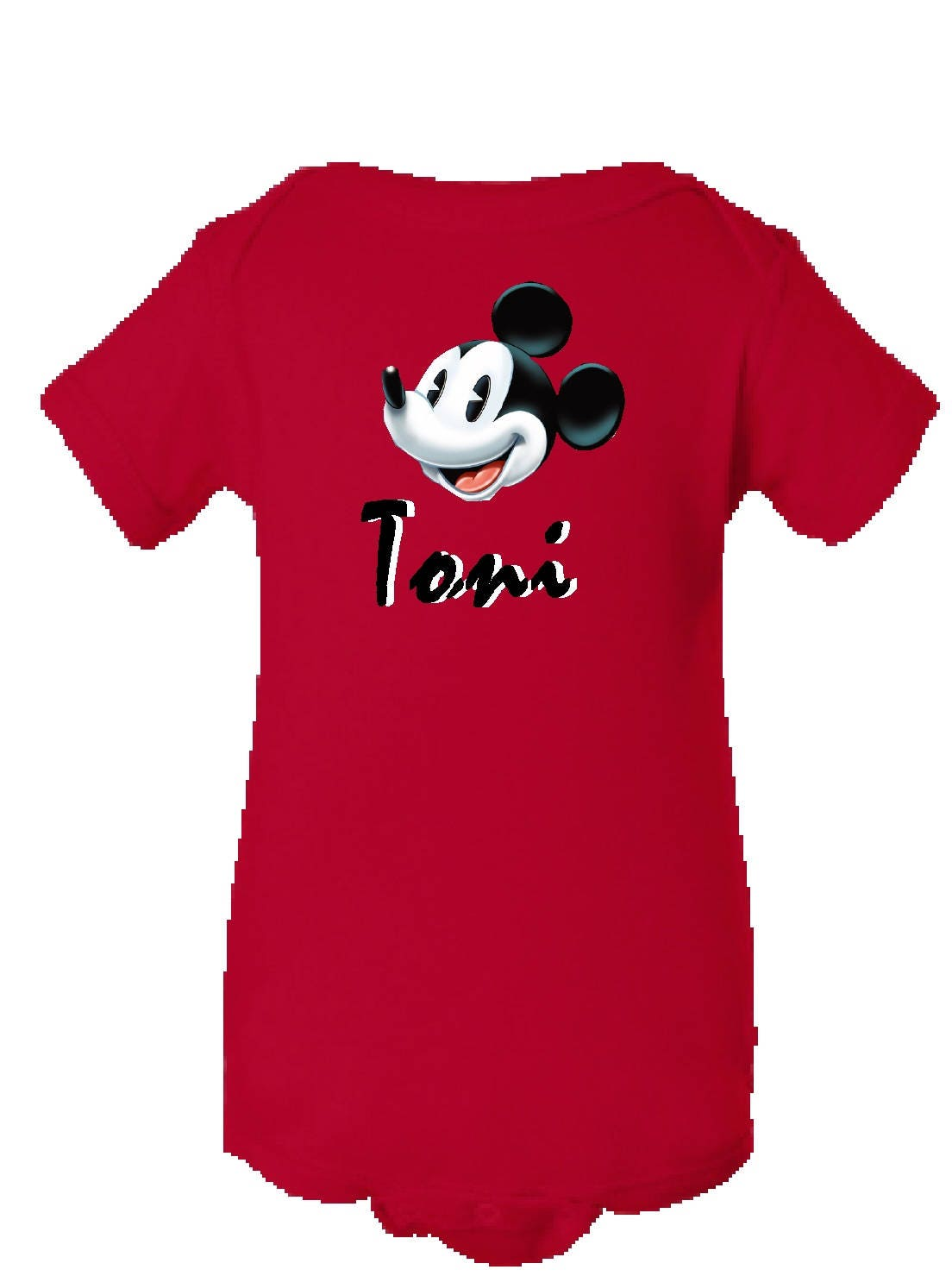 Personalized Mickey Mouse Onesie Infant Shirt Disney World Baby