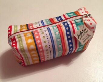 Fancy multicolored striped clutch. Large bag handbag.