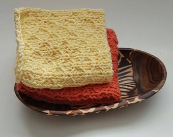 Hand Knitted Cotton Washcloths