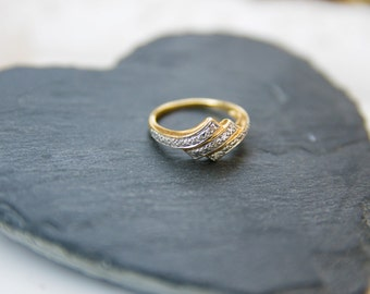 vintage gold and silver ring