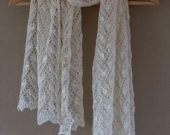 Twig lace shawl