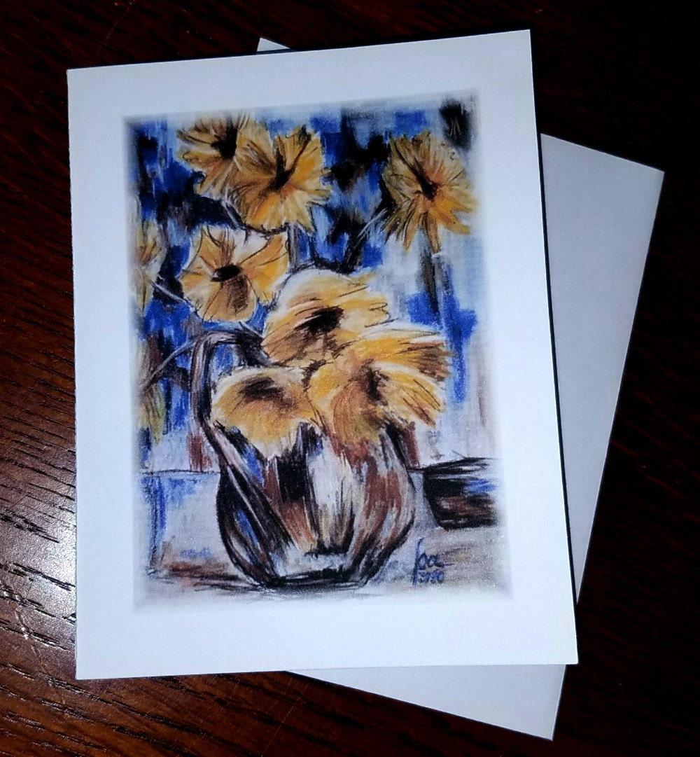 Greeting card sunflowers blank card flower card cards zoom kristyandbryce Gallery