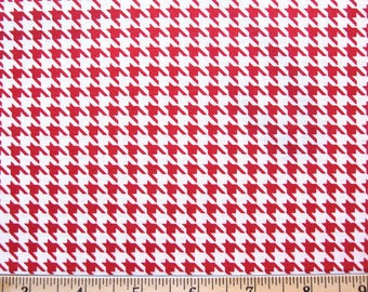 Kimberbell Basics RED HOUNDSTOOTH Maywood Studio Classic Red White Hounds Tooth Fabric