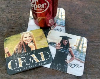 Inexpensive Graduation Party or Wedding reception Coasters