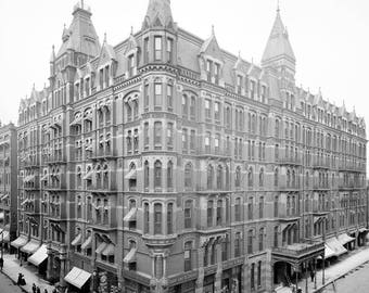 "1905 Ryan Hotel, St. Paul, Minnesota Vintage Photograph 8.5"" x 11"""
